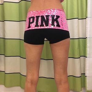 Pink yoga shorts